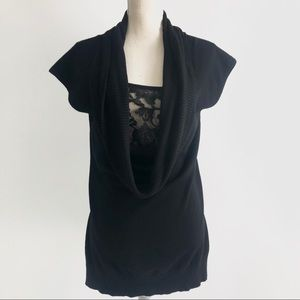 Torrid Cowl Neck Sweater with Lace